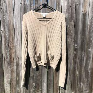 The Limited Oversized Cropped Sweater | Size Large